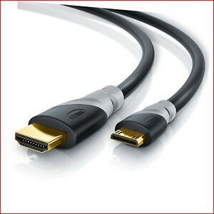 CSL - 3m Ultra HD 4K Mini HDMI Cable | Latest HDMI 2.0b Standard | Type C to HDM
