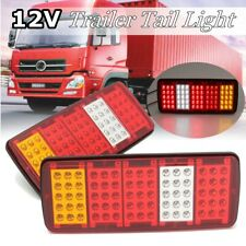 2pc 12V 75 LED Tail Lights Ute Rear Trailer Caravan Truck Stop Reverse Indicator