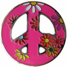 Bright Pink Peace Sign Golf Ball Marker & Peace, Love, & Golf Hat Clip
