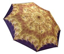 Galleria Moon Dust Folding Umbrella Purple Automatic Open Close Compact Brolly