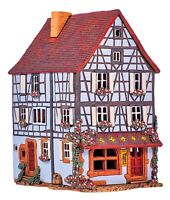 Ceramic Tealight Holder Collectible Miniature House of Pottery in France 23 cm