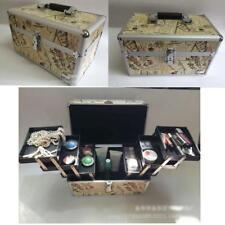 Multifunction Khaki Envelopes Aluminum Pro Handle Makeup Organizer Cosmetic Case