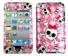 Design Rubberized Hard Case for Apple iPod Touch 4th Gen - Cute Skull