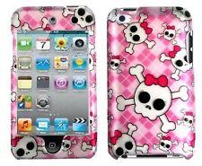 Design Rubberized Hard Case for Apple iPod Touch 4th Gen - Cute Skull