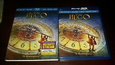 Hugo (Blu-ray/DVD, 2012, 3-Disc Set, Limited 3D Edition) OOP w/ Rare Slipcover