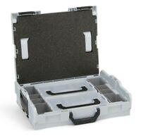 L Boxx 102 Werkzeugkoffer Sortimentskasten mit Einlage Einsatz L-BOXX Mini grau