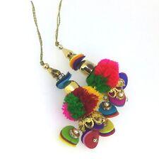 Pom Pom Tassels Charm Jewelry Tribal Gypsy Cotton Pom Latkan Summer DIY  1 Pair