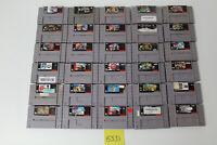 30 Super Nintendo SNES Games Tetris & Dr Mario, Mario Kart, Power Rangers Movie