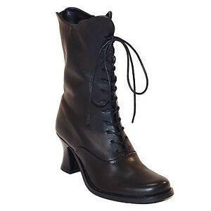 Boots & Braces Lady Leather Echtleder High Heel Stiefel Schwarz Black Neu