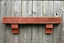 Reclaimed Wood Fireplace Mantle Shelf  Rustic Distressed Display Shelf  - 30""