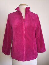 Women's M - L >TOTES Hot Pink Plush Fleece/Reversible to Raincoat Jacket /Coat