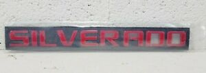 2007-2021 Red CHEVROLET SILVERADO Letters Fender Tail Gate Emblem Decal