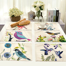 Cotton Blend Placemats Washable Heat Insulation Dining Table Place Mats Decor