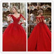 Crimson Cathedral Wedding Dresses Bridal Gowns Long Sleeve Sweetheart Neck Boho