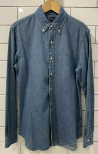 Men's Ralph Lauren Denim Shirt, Slim Fit, Size Medium