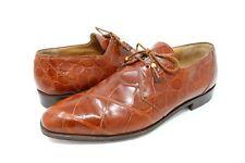 Mauri Mens Genuine Alligator Dress Oxfords Brown Size 10.5