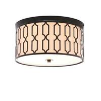 JONATHAN  Y Link 3-Light Oil Rubbed Bronze 16.75 in. Metal Flush Mount JYL3508A