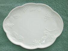 White ceramic earthenware lunch sandwich snack serving dish platter - no cup