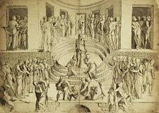 STUDIO MORTE ANANIA - Baccio Bandinelli Comte Caylus - Incisione Originale 1730