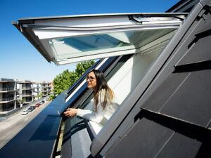 Dachfenster VELUX Kunststoff GPU 2/3-Fach Klapp-Schwingfenster +Rollladen