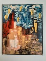 Original abstract acrylic painting on canvas