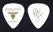 Bon Jovi Richie Sambora Signature White Guitar Pick 2011 Bon Jovi Live Tour