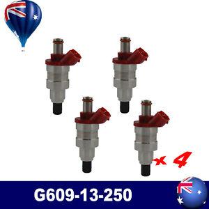 4* Fuel Injector OE G609-13-250 For Mazda B2600 MPV UF Ford Raider Courier 2.6L