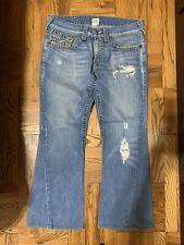 true religion jeans 33x32 Mens Size Rainbow Joey