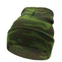 Beanie Winter Ski Hat For Men Women Camo Knit Warm Camouflage Sport Cap Skull
