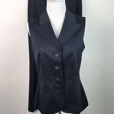 Talbots Womens NWT 2 Pc Suit Sleeveless Jacket Flat Front Pants Career Sz 6 AK13