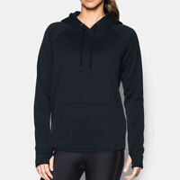 Under Armour Womens Storm Fleece Hoodie Black Sports Gym Breathable Lightweight