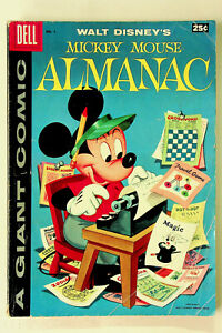 Walt Disney's Mickey Mouse Almanac #1 (1957, Dell) - Good