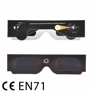10Jun21 Solar Eclipse Safety Glasses ISO12312-2 CE & FDA Approved - Ship from UK