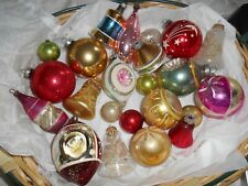 Vintage Lot of 22 Christmas Ornaments- Shiny Brite Poland Premier Various Sizes