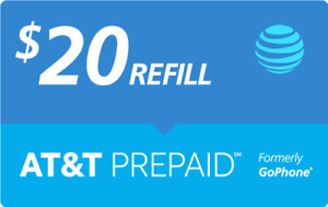 $20 AT&T PREPAID REFILL DIRECT to PHONE GET IT TODAY! 🔥 IF PAY BEFORE 11 PM ET
