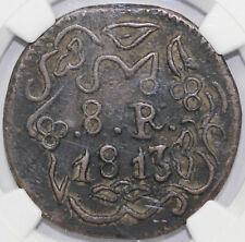 1813 Mexico 8 Reales Oaxaca/SUD NGC VF DETAILS ENVIRONMENTAL DAMAGE
