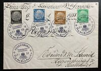 1938 Regensburg Sudetenland Germany First Day Cancel Cover Philatelic Exhibition