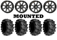 Kit 4 Kenda Executioner Tires 26x10-12/26x12-12 on STI HD4 Gloss Black IRS