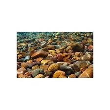 "Top Fin Aquarium Cling Background Natural Stones Rocks Size 18""W x 36""H NIP"