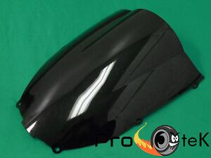 Smoke Black Double Bubble Windscreen Windshield for 1998-1999 Kawasaki Ninja ZX6