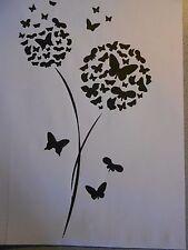"""Schablone """" Pusteblumen Schmetterlinge """" auf A4"""