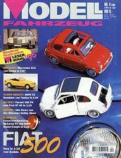 Rivista veicolo Modello 4 96 1996 COCA COLA FIAT 500 Morgan 4/4 Linde e16 VW