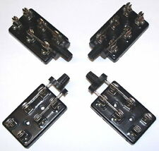 NEW - 4 PCS lot ECON LOW-COST DPDT KNIFE switch TV radio electronic science fair