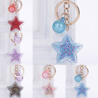 Women Cute Key Chain Bag Pendant Gift Key Ring Charm Fashion Stars Axxessories