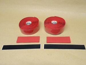 BBB Raceribbon Red Handlebar Tape Synthetic Cork / Gel Insert Matt Finish