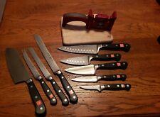 Wusthof Classic 11 Piece Knife Set Knife Sharpener cutting board