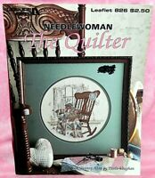 Leisure Arts Paula Vaughan Needlewoman The Quilter Cross Stitch Leaflet Chart