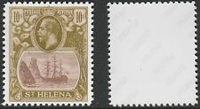 St Helena (1432) 1922 KG5 Badge Issue 10s -  a Maryland FORGERY unused
