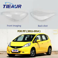 (One Pair)Front Headlight Lens Cover Lampshade For Honda FIT 2011-2014