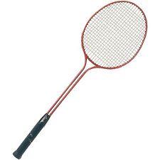 Champion Sports Double Steel Shaft Badminton Racket Steel/Red Br30